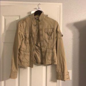 Khaki button jacket